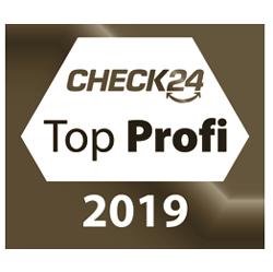 Siegel Check24 Gold Top Profi 2019